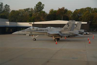 Pair of F-18's in Cincinnati, Ohio.