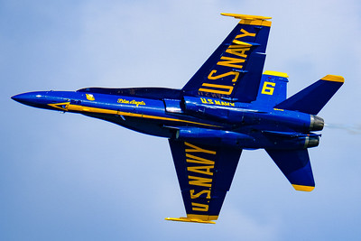 Blue Angels Solo Closeup