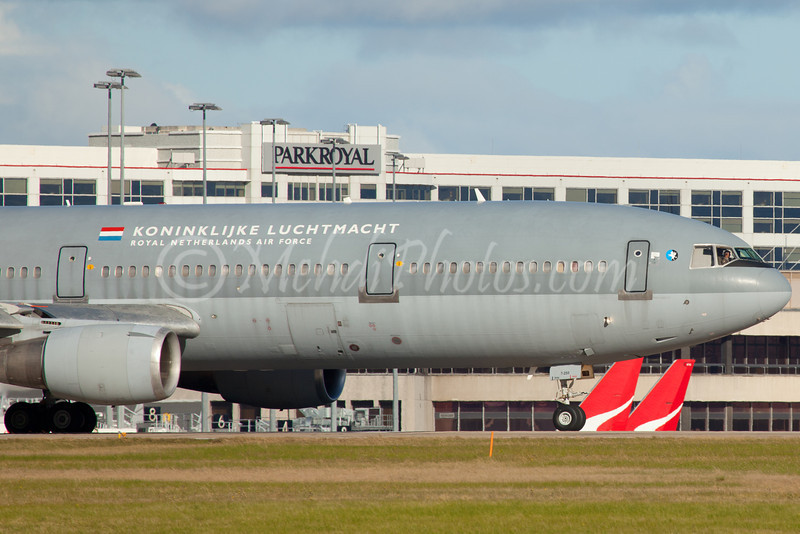 Dutch (Royal Netherlands) Air Force DC-10 visiting Melbourne on 18 June 2011, Rego: T-255.