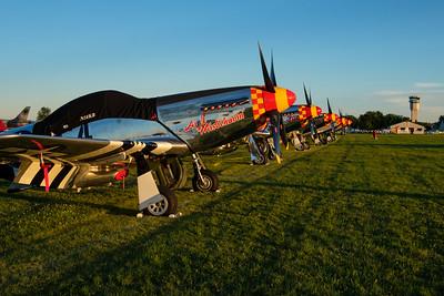 P-51 Line at Sunset