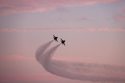 Blue Angels Pass at Dusk