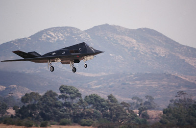 "Lockheed F-117 Nighthawk, aka ""Stealth Fighter"", ""Wobbly Goblin"""