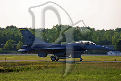 One of two U.S. Air Force F-16's from the 'Viper West' demonstration team after arriving in Rochester on July 5, 2011 ahead of this weekend's air show in Geneseo, NY. http://viperwest.hill.af.mil/  http://www.1941hag.org/