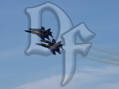 Blue Angels in diamond formation at the 2004 Rochester, NY International Airshow.