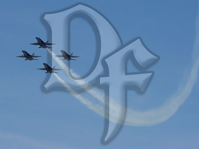 The Blue Angels fly in their Diamond formation at the 2004 Rochester (NY) International Airshow.
