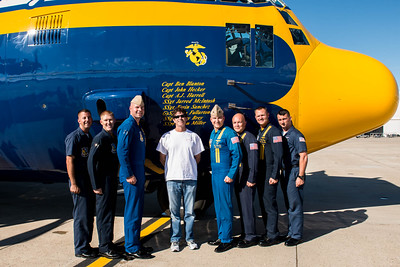 Blue Angles Fat Albert Flight Crew and me....the folks who fly these aircraft are Incredible! Ya I know, cheesy photo op..at the NAS Miramar Air Show in San Diego