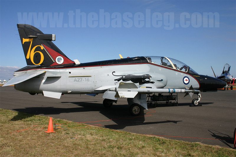 RAAF Hawk 127 A27-16 in 76 Sqn special scheme, Avalon Airshow 2005