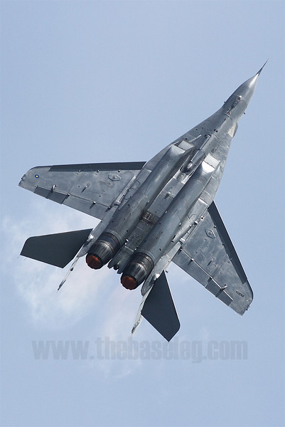 A view of the MiG-29N's underside. TUDM is short for Tentera Diraja Udara Malaysia, roughly translated to Royal Malaysian Air Force.