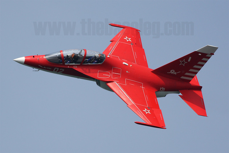 The Russian Yak-130 'Mitten' trainer, resplendent in its red colour scheme, flew at Singapore Airshow 2014