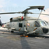 Sikorsky SH-60F Seahawk 164450 of HS-14 Chargers on board the USS Kitty Hawk at Changi Naval Base, Singapore in 2006.