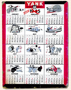 1945 YANK Magazine Calendar 2018