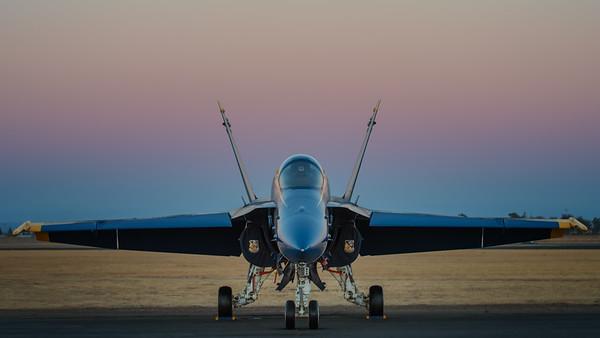 US NAVY Blue Angel at Sunset