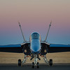 US NAVY Blue Angel at Sunset