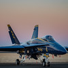 US NAVY Blue Angels at Sunset