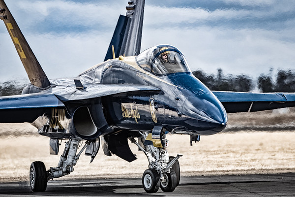 US NAVY Blue Angel in Bleach Bypass