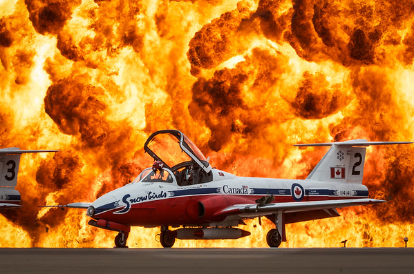 Canadian Snowbirds and The Wall of Fire
