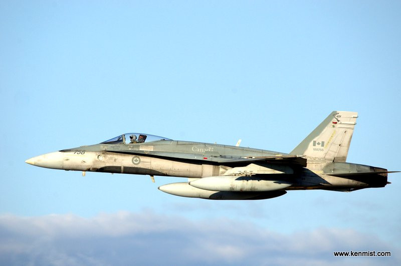 CF-18 from Bagotville Quebec visiting the Jet Aircraft Museum Open House