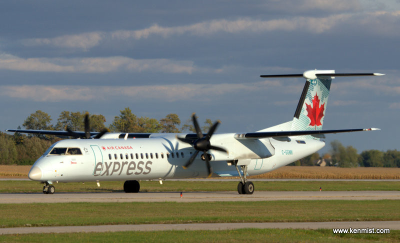 Air Canada Express Bombardier Q-400 at London International Airport