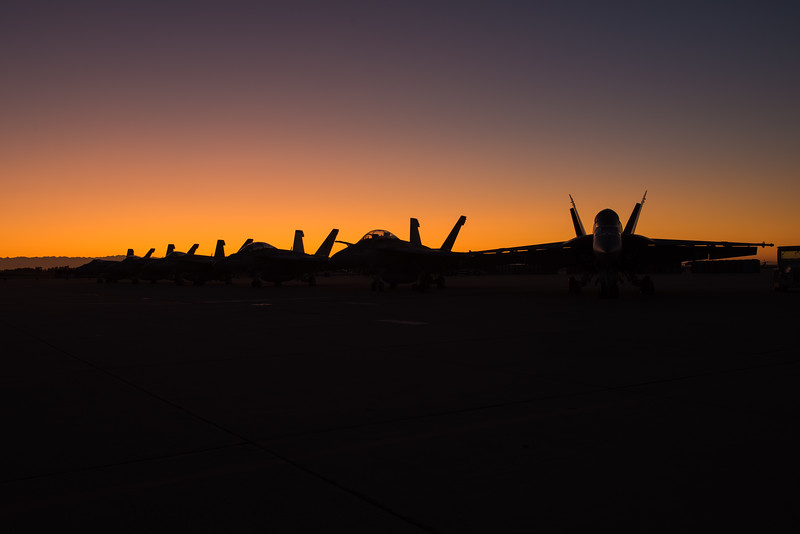 F/A-18Es and Fs at NAS Lemoore