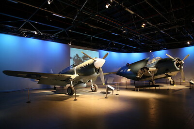 ex-USAAF Curtiss P-40E Kittyhawk, 41-14205  & ex-RNZAF Grumman TBF-1 Avenger, NZ2504 - 21/10/18