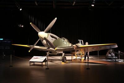 ex-RAF Supermarine Spitfire LF Mk.XVIE, TE288 / 'OU-V' ... featured in the 1955 film 'Reach for the Sky' - 21/10/18