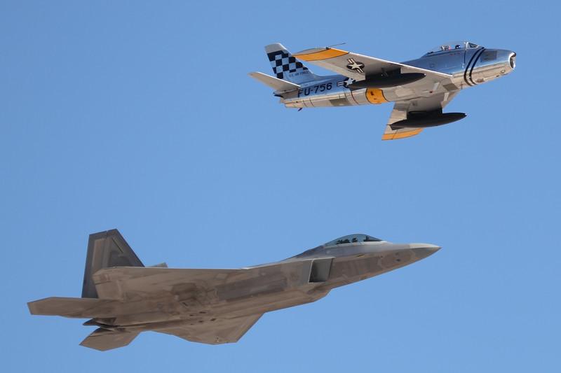 F-22 Raptor & F86 (Heritage Flight)