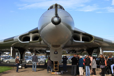 Avro Vulcan B2, XM594, on display outside at Newark Air Museum - 11/10/15.