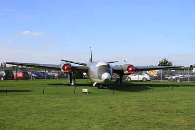 English Electric Canberra PR7, WH791 (numbered WH792), on display outside at Newark Air Museum - 11/10/15.