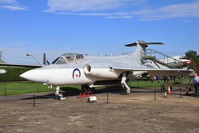 Blackburn Buccaneer S.1, XN964, on display outside at Newark Air Museum - 11/10/15.