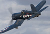 Photo taken March 15, 2008.  An F4U Corsair performs for the crowd at the Ohakea Airshow near Bulls, NZ.