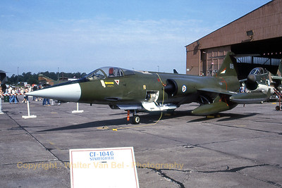 Royal Norwegian Air Force CF-104 (818; cn683A-1118) from 334skv in static display at Ramstein (ETAR) [August-1981].
