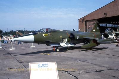Royal Norwegian Air Force CF-104 (818; cn683A-1118) from 334skv in static display at Ramstein (ETAR) [August-1981].