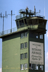 View on the Control Tower, photographed during an Open Door at Bitburg AFB during the late seventies. [Scan from slide].
