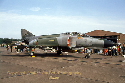 German Air Force F-4F Phantom II (37+88, cn 4570) in static display at Ramstein AFB (25th Airbase Anniversary, July 1978). Scan from slide.