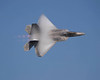 Photo taken August 1, 2008.  F-22 Raptor high-speed pass at EAA AirVenture 2008.