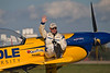 Photo taken August 2, 2008.  Matt Chapman taking a break after his performance at EAA AirVenture 2008.