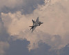 Photo taken August 1, 2008.  F-22 Raptor doing a fly-by at EAA AirVenture 2008.