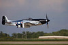 Photo taken August 1, 2008.  P-51D Mustang takes off at EAA AirVenture 2008.