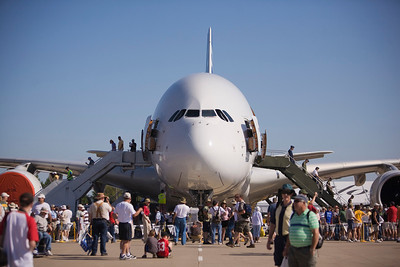 Airbus A380 at EAA AirVenture 2009.