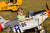 Future P-51 Mustang pilot at EAA AirVenture 2009.