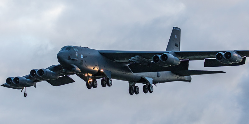 Boeing B-52H Stratofortress - USAF - 2BW - 20th BS - LA AF 60-0025 - RAF Fairford (March 2019)