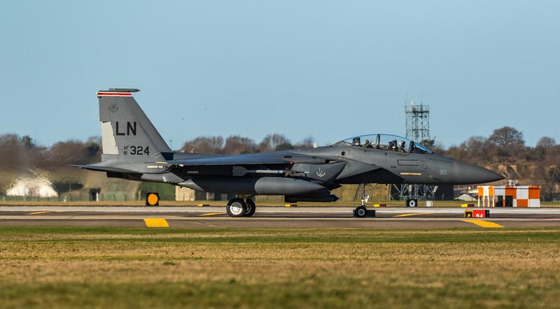 F15-E Strike Eagle - 48FW - 494FS - LN AF 91-0324 - RAF Lakenheath (March 2019)