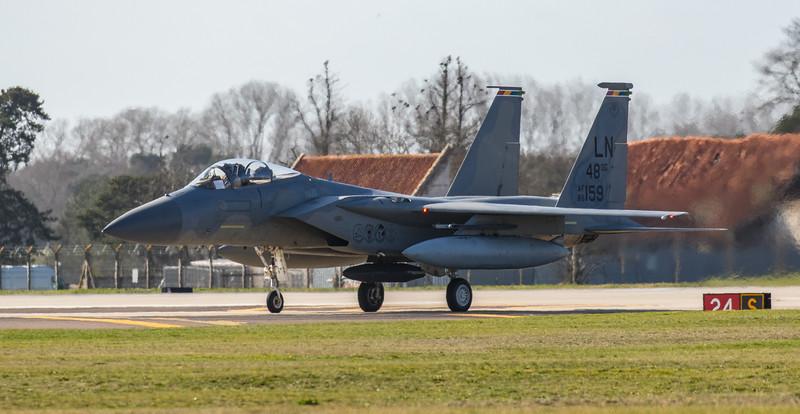 F15-C Eagle - 48FW - LN 48OG AF 86-0159 - RAF Lakenheath (March 2019)