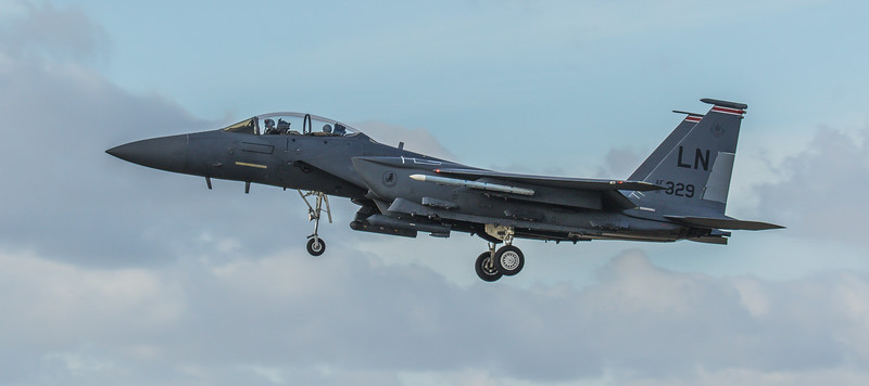F15-E Strike Eagle - 48FW - 494FS - LN AF 91-0329 - RAF Lakenheath (March 2019)