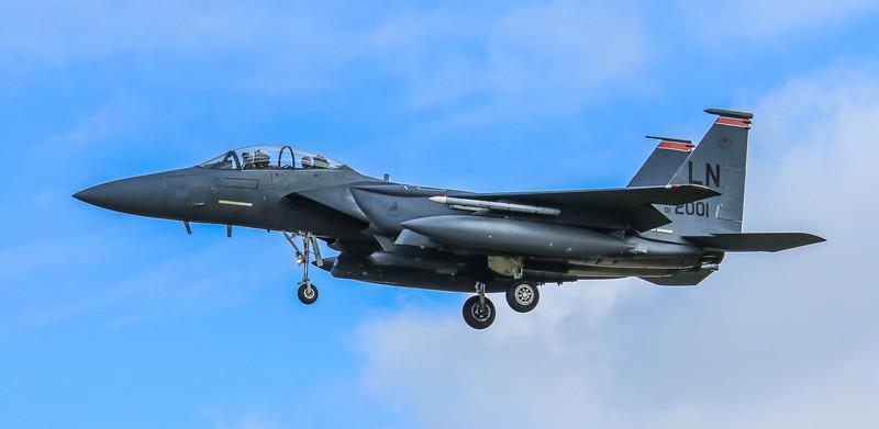 F15-E Strike Eagle - 48FW - 494FS - LN AF 01-2001 - RAF Lakenheath (April 2016)