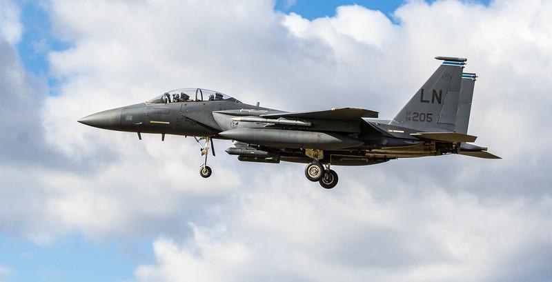 F15-E Strike Eagle - 48FW - 492FS - LN AF 96-0205 - RAF Lakenheath (March 2019)