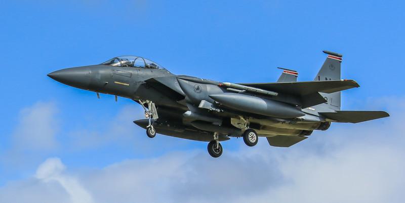 F15-E Strike Eagle - 48FW - 494FS - LN AF 01-2002 - RAF Lakenheath (April 2016)