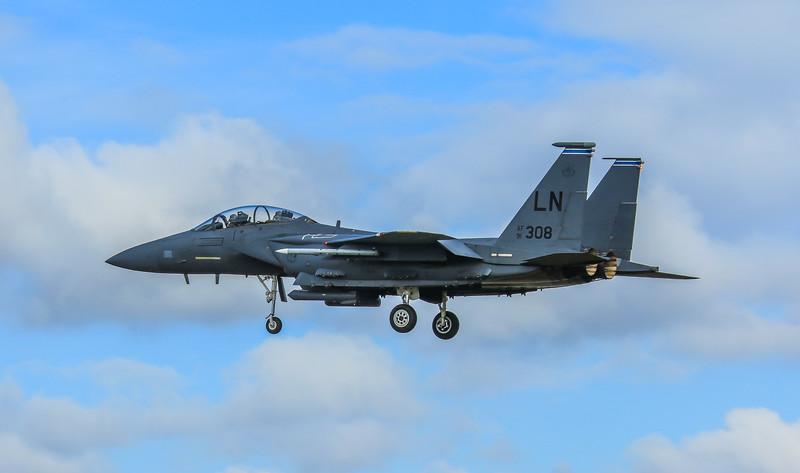 F15-E Strike Eagle - 48FW - 492FS - LN AF 91-0308 - RAF Lakenheath (April 2016)