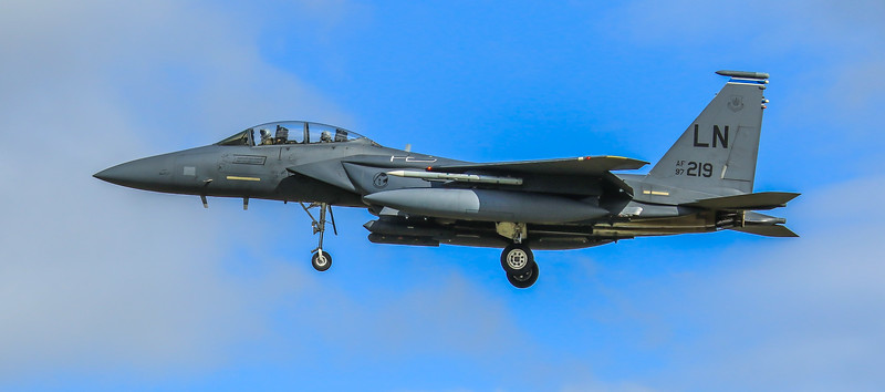 F15-E Strike Eagle - 48FW - 492FS - LN AF 97-0219 - RAF Lakenheath (April 2016)