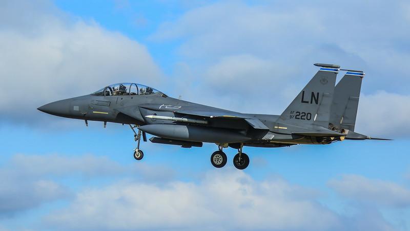 F15-E Strike Eagle - 48FW - 492FS - LN AF 97-0220 - RAF Lakenheath (April 2016)
